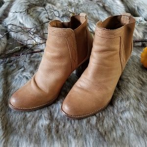 Joie - Brown Leather Western Bootie Size 10